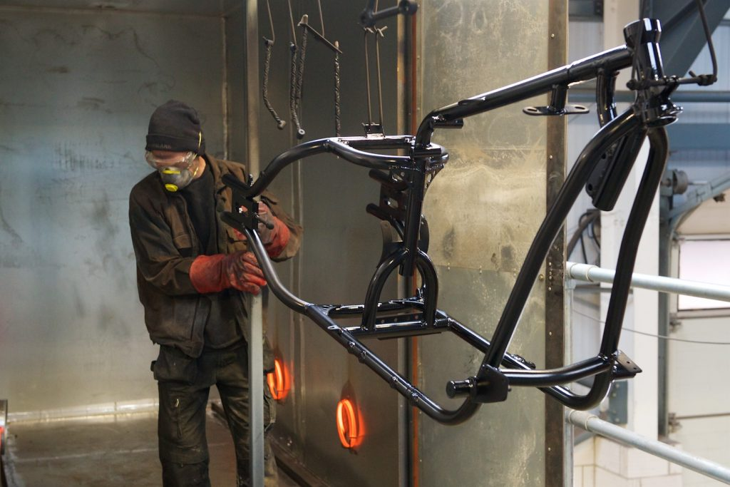 Motorcycle powder coating for North Devon