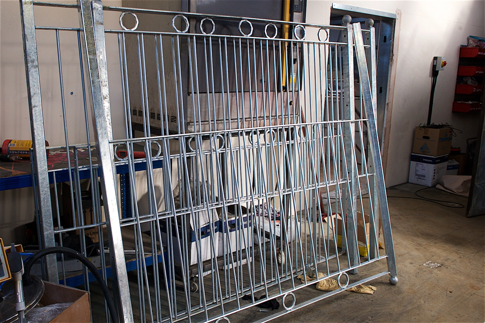 Galvanised gates Devon