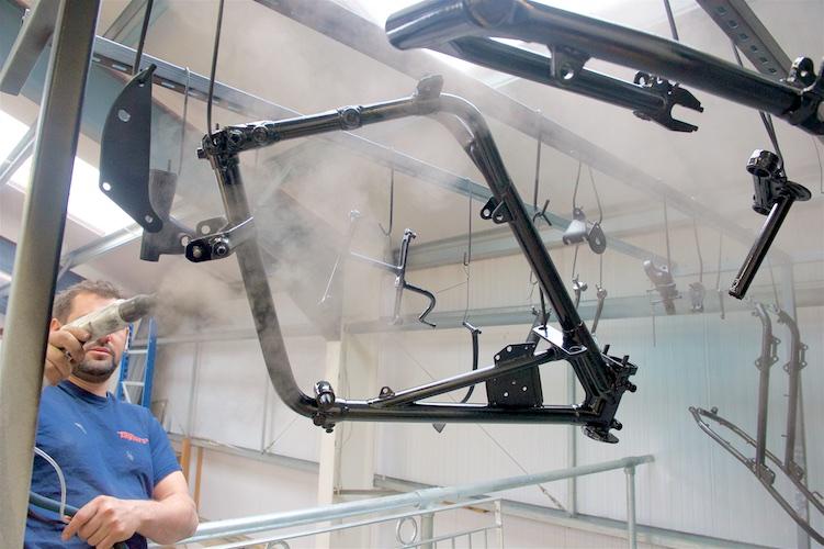 Powder coating bike frames Devon, Devon Powder coating service,